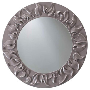 AIX Round Wall Mirror, Grey