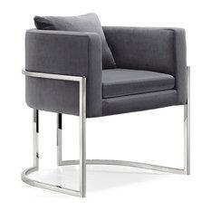 Pippa Velvet Accent Chair, Gray
