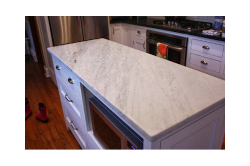 white kitchen/soapstone/marble - reveal! on quartz countertops, butcher block countertops, black countertops, paperstone countertops, obsidian countertops, bamboo countertops, granite countertops, corian countertops, marble countertops, stone countertops, hanstone countertops, silestone countertops, slate countertops, agate countertops, solid surface countertops, gray limestone countertops, metal countertops, concrete countertops, copper countertops, kitchen countertops,