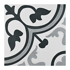 "Residence - 12.38""x12.38"" Rimini Ceramic Floor/Wall Tiles, Set of 10 - Wall and Floor Tile"