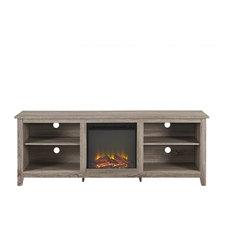 Walker Edison 70-inch Fireplace Tv Stand Driftwood