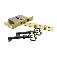 Horton Brasses Inc   LK 7 Half Mortise Box Lock, 3u0027u0027x