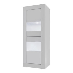 Dolcevita Narrow Display Cabinet, White Gloss
