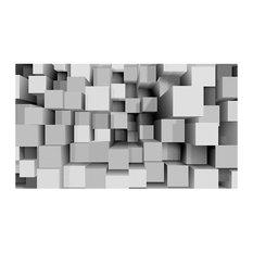 "Large ""Mechanical Symmetry"" Wallpaper, 500x280 Cm"