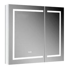 LED Medicine Cabinet With Defogger, 36x32