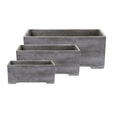 Out Concrete Plant Troughs, 3-Piece Set