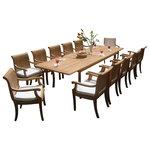 Teak Deals   13 Piece Outdoor Teak Dining Set   Our Teak Dining Set Is