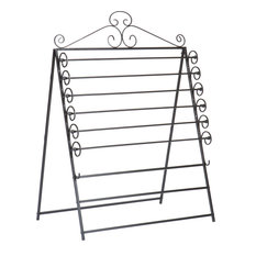 Easel/Wall Mount Craft Storage Rack, Black