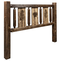 Montana Homestead King Headboard With Stained And Lacquered MWHCKHBSLLZPINE