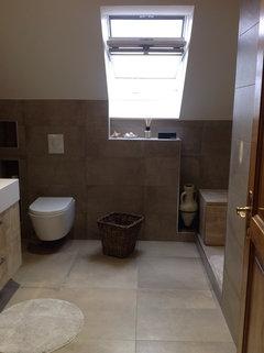 10 salles de bains sous pente r ussies for Toilette sous pente