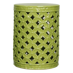 New Pacific Direct Inc.   Lattice Leaves Garden Stool, Green   Accent And  Garden