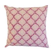 Padma Geometric Floor Pillow, Raspberry