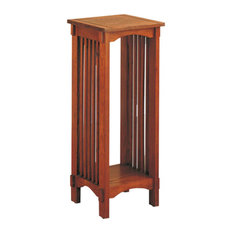 Bowery Hill Square Plant Stand in Warm Brown