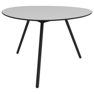 Big Dine A-Lowha Dining Table, Grey, Black Frame