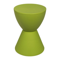 Leisuremod Boyd Modern Plastic Side End Table, Indoor/Outdoor Use, Green