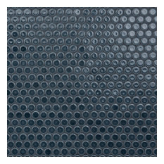 """SomerTile 12""""x12.63"""" Penny Porcelain Mosaic Floor and Wall Tile, Blue-Gray"""