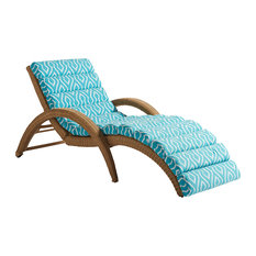Tommy Bahama Aviano Patio Chaise Lounger in Burnished Mocha and Blue