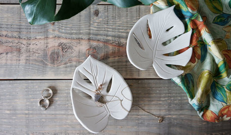 DIY: Jewelry Tray Takes the Form of a Leaf