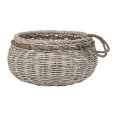 Sumbawa Natural Rattan Basket, Large