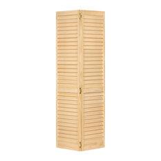 "Plantation Bi-fold Closet Door, Louver/Louver, Clear, 1""x32""x80"""