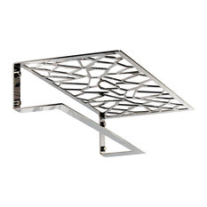 Fretwork Wall-Mounted Towel Rack, Chrome