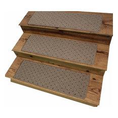 "Dog Assist Carpet Stair Treads, 9""x27"" Power Point, Oak Stone, Set Of 13"