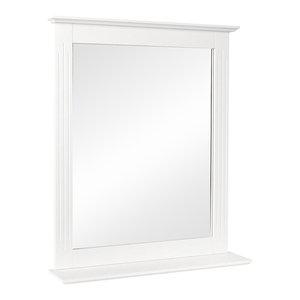 Modern Wall Mounted Bathroom Mirror With Shelf, Rectangle, White, 50x60 cm