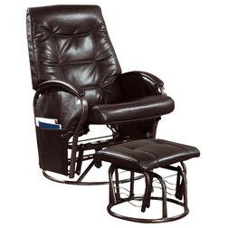 Popular Contemporary Recliner Chairs Monarch Specialties Piece Swivel Rocker Recliner Chair Set in Brown w