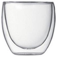 Teaology Coppia Double Wall Borosilicate Glass Tea/Coffee Cup - Set of 2 8oz Gla