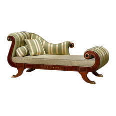 Infinity Furniture - Whimsical Chaise Lounge, Green - Indoor Chaise Lounge Chairs