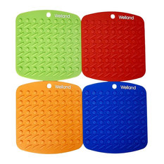 welland industries llc welland silicone pot holder set of 4 oven mitts and