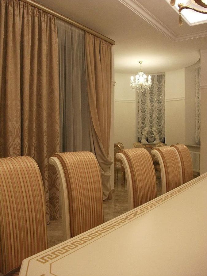 Шторы и текстильный дизайн для элитного загородного дома.