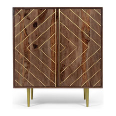 MOD - Starke Geometric Bar Cabinet in Wood - Buffets and Sideboards  sc 1 st  Houzz & 50 Most Popular Buffets and Sideboards for 2018 | Houzz