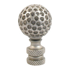 "Lamp Finials, Pewter Finish ""Golf Ball"""