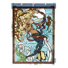 Meyda Tiffany 78086 Stained Glass Tiffany Window Seashore Collection