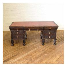 Victorian Carved Oak Desk