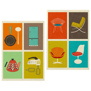 The Modern Home Tea Towels, 2-Piece Set
