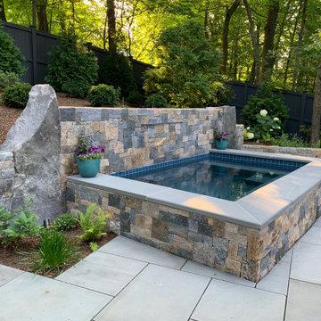 Lexington, MA  Plunge pool  with Waterfall