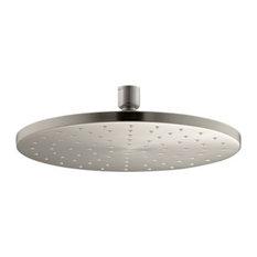"Kohler 10"" Contemporary Round 2.5 GPM Rainhead, Vibrant Brushed Nickel"
