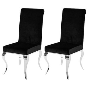 Louis Dining Chair, Set of 2, Black