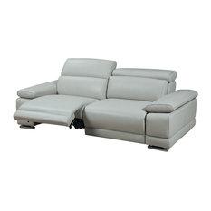 Grace Electric Motion Sofa, Adjustable Neck Rest Cushions, Light Gray