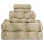 Luxor Linens - Hammam Combed Extra Long Staple Egyptian Cotton Towels, Latte, 6-Piece Set - Product Details