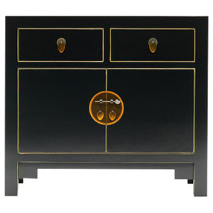 Qing Black and Gilt Sideboard, Medium
