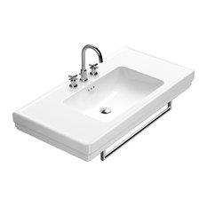 """Catalano 1105CV00 Canova Royal 41.34""""x21.26"""" Fireclay Washbasin, White"""