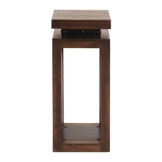 Howard Elliott Rustic Wood Pedestal with Iron Accents