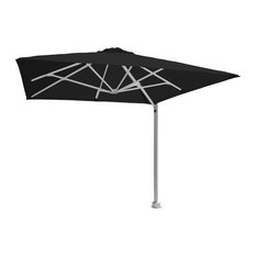 """9'10"""" Square Black Widow Umbrella, Wall Fitting and LED Lights"""