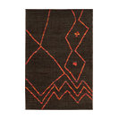 "Nomad 6991N Brown Contemporary Rug, 5'3""x7'6"""
