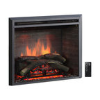 """Puraflame Western Electric Fireplace Insert With Remote Control, 750/1500W, 30"""""""