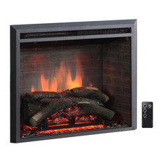 """puraflame - Puraflame Western Electric Fireplace Insert With Remote Control, 750/1500W, 30"""" - Indoor Fireplaces"""