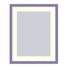 Wall Picture Frame Hammered Purple pearlized finish with a white acid-free matte
